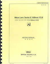 Nikon Series E 100mm F2.8 Ai Lens Repair Manual