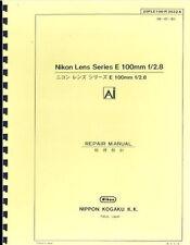 Nikon Series E 100mm F2.8 Ai Lens Repair Manual