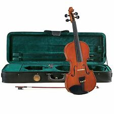 Cremona SV-200 Premier Student Violin Outfit Full Size, Well Flamed Body, Aging