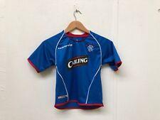 Umbro Rangers FC Kid's 2005/06 Home Retro Shirt - 5-6 Years - Blue - New
