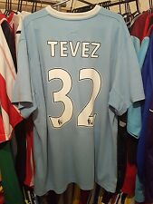 Manchester City Football Shirt 2009/10 Home Large ~ Tevez 32
