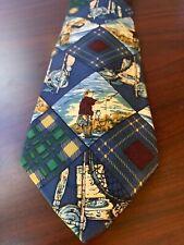 Ruff Hewn Imported Silk Tie Fly Fishing Theme True American Wear