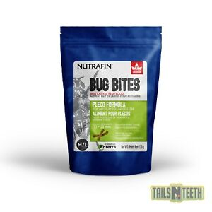 Nutrafin Bug Bites Bottom Feeder Medium-Large 130g - 17-20mm Sticks for Plecos
