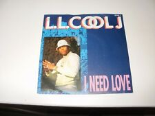 L.L. COOL J   I NEED LOVE   / MY RHYME AIN'T DONE   7IN VINYL RECORD