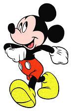 "5X7"" Disney Mickey Mouse glitter large IRON On TRANSFER Heat Vinyl confident run"
