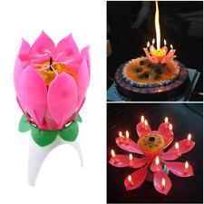 Joy Singing Music Birthday Candle Monolayer Lotus Candle Flowering Music Candle