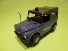 OLD CARS FIAT CAMPAGNOLA  - POLICE POLIZIA- WHITE 1:40? L9.0cm - GOOD