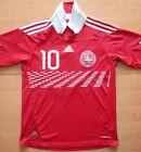 2010 Denmark #10 Pedersen Adidas Size 13/14 years Football Shirt Jersey