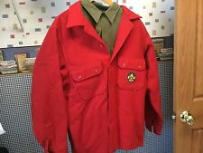Vintage Boy Scouts Uniform Pants Shirt Jacket 1960's Scout Patches Used