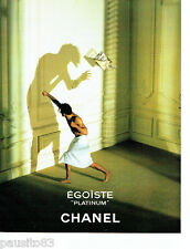 PUBLICITE ADVERTISING 096  1994  Chanel   eau  toilette homme Egoiste Platinium