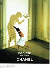 PUBLICITE ADVERTISING 096  1994  Chanel   eau  toilette homme Egoiste Platinium