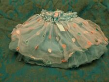 Girls tutu skirt blue polka dot