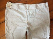 Bonmarche Beige Linen Viscose Size Zip Trousers Size 20 Reg BNWT W39 L30