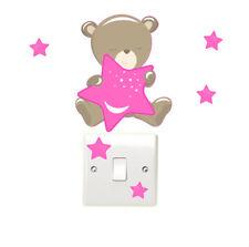 Teddybear & Interruptor de luz de estrellas pegatinas de pared para Dormitorio de Niños Divertido Oso de Peluche