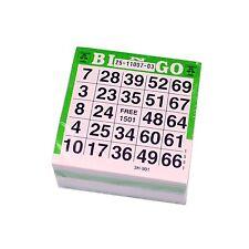 BINGO Karten Ticket-Block mit 500 Tickets verschiedene Serien Bingokarten