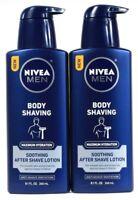 2 Nivea Men 8.1 Oz Maximum Hydration Anti Irritation After Body Shaving Lotion