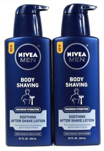 2 Nivea Men 8.1 Oz Maximum Hydration Anti Irritation After Body Shaving Lotion