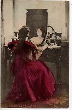 70289 Orig c1906 handcolored litho British Theatre Actress Miss Zena Dare makeup