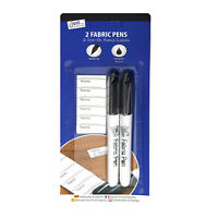 Laundry Fabric Pen / Textile Permanent Marker Pens Black with Iron on Name Tapes