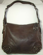Furla Dark Brown Leather Top Zip Convertible Large Hobo Shoulder Crossbody Bag