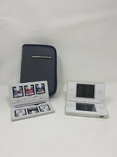Nintendo DS Lite White Handheld Game Console With Charger And 7 Free Games