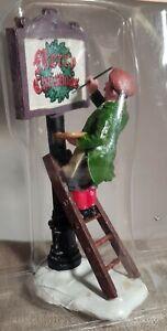 Lemax Caddington Village Figurine. Sign Painter.  # 12527. c.2001