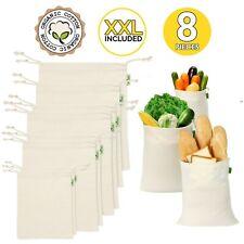 Reusable Produce Bags, Set of 8 XXL 21x13