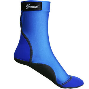 Seavenger SeaSnug Lycra Neoprene Beach Pool Lake Water Sock Slipper-Blue