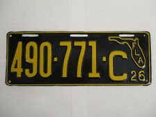 1926 Florida License Plate Tag SHOW CAR NICE