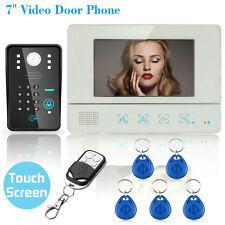 """7"""" LCD Wired Touch Key Video Door Phone Doorbell Entry Intercom System IR Camera"""
