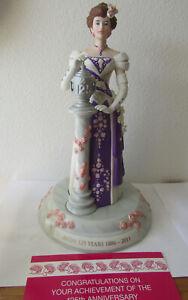 Avon Mrs PFE Albee full sz figurine, 125th Anniversary with base, COA, box, 2012