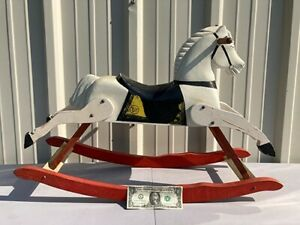 Vintage Horse  Child/'s Toy  Child/'s Riding Horse Rare Collectible Toy Horse Carousel Horse Rare Black Spotted Horse Photo Prop