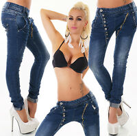Sexy New Women's Denim Blue Jeans Trousers Boyfriend Harem Baggy C 613