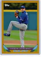 Aaron Sanchez 2019 Topps Archives 5x7 Gold #208 /10 Blue Jays