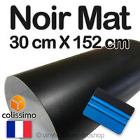 Film Vinyle Mat Noir Thermoformable Adhésif Sticker Covering 152 cm x 30 cm Pro