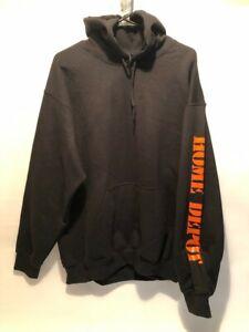 Gildan Heavy Blend Hooded Sweatshirt 18500, Home Depot, 50Cotton50Poly, Sz L.