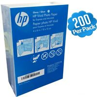 "HP 4"" x 6"" / 10x15cm Photo Paper Glossy 200-Sheets 4x6 Inkjet Laser CG937A Gloss"