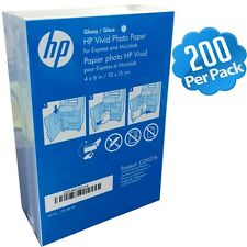 "HP 4"" x 6"" / 10x15cm Photo Paper Glossy 200-Sheets 4x6 Inkjet Laser CG937A Gloss"