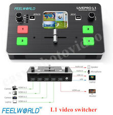 Feelworld LIVEPRO L1 Multi-format Video Switcher Mixer 4XHDMI Live streaming