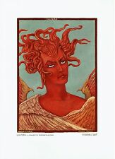 Alberto Martini, Lucifero. Grande tavola sciolta a col. (25 x 35 cm), Rarissima