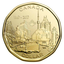 Canada 2017 (1867-) $1 Connecting A Nation 150th Anniv Loonie Coin BU UNC
