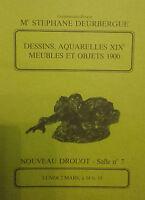 1981 Catálogo De Venta Demuestra Drouot Dibujos Acuarela XIX Muebles 1900