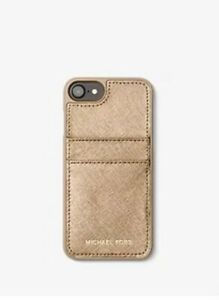 Michael Kors Gold Leather Case for iPhone 6/7/8 New With Tags