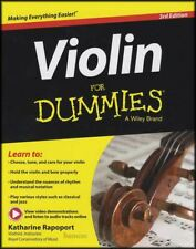 Violin for Dummies Sheet Music Book/Audio/Video 3rd Edition Learn To Play Method