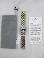 NEW Michele 20mm 5 Link Two Tone Watch Band Bracelet MS20FW285048 Deco XL Urban