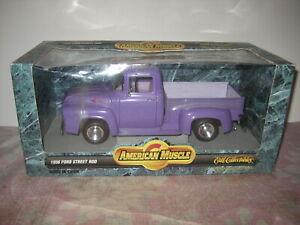 1/18 American Muscle 1956 FORD Street Rod Purple Pickup Truck