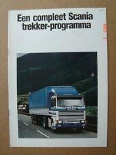 "SCANIA  ""a complete range of Tractors""  brochure / Prospekt  1983."
