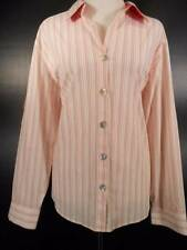 Beautiful Women's Size 2 Chico's Multi-Color Striped Long Sleeve Button Blouse