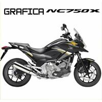 ADESIVI DECAL STICKERS HONDA NC750X NC 750 X RACING CARENA GRAFICA BIANCO ORO