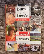 Ancien libro de la journal France año 1978 Noticias Larousse politique y otros